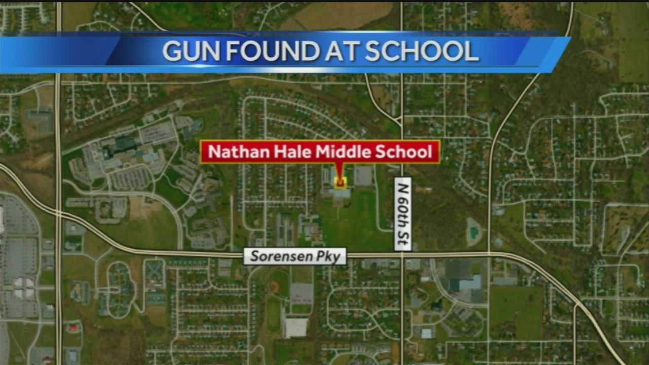 School officials said a student brought a pellet gun to Nathan Hale Magnet Middle School on Tuesday.