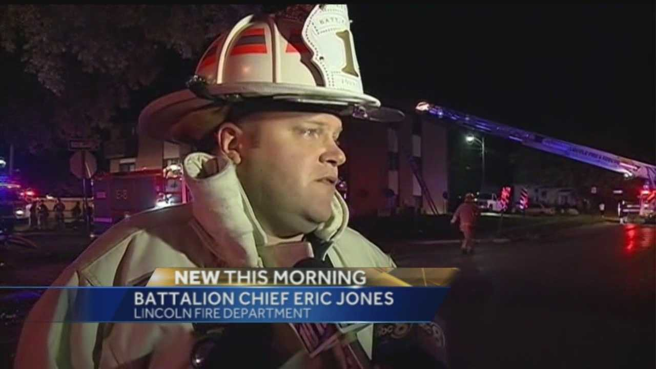 There are no reported injuries, but an apartment fire in Lincoln Saturday night was a cause for concern for many in the area.