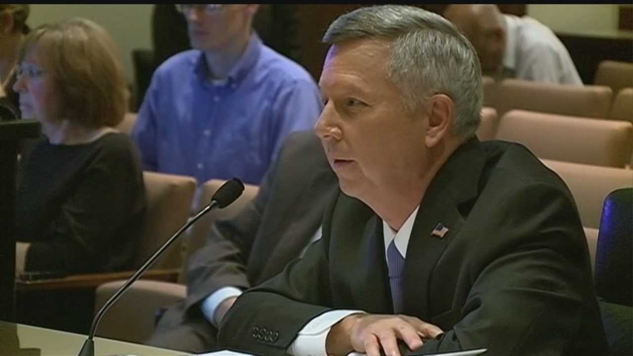 Gov. Dave Heineman spent the entire day answering questions about problems within the state's Department of Corrections.