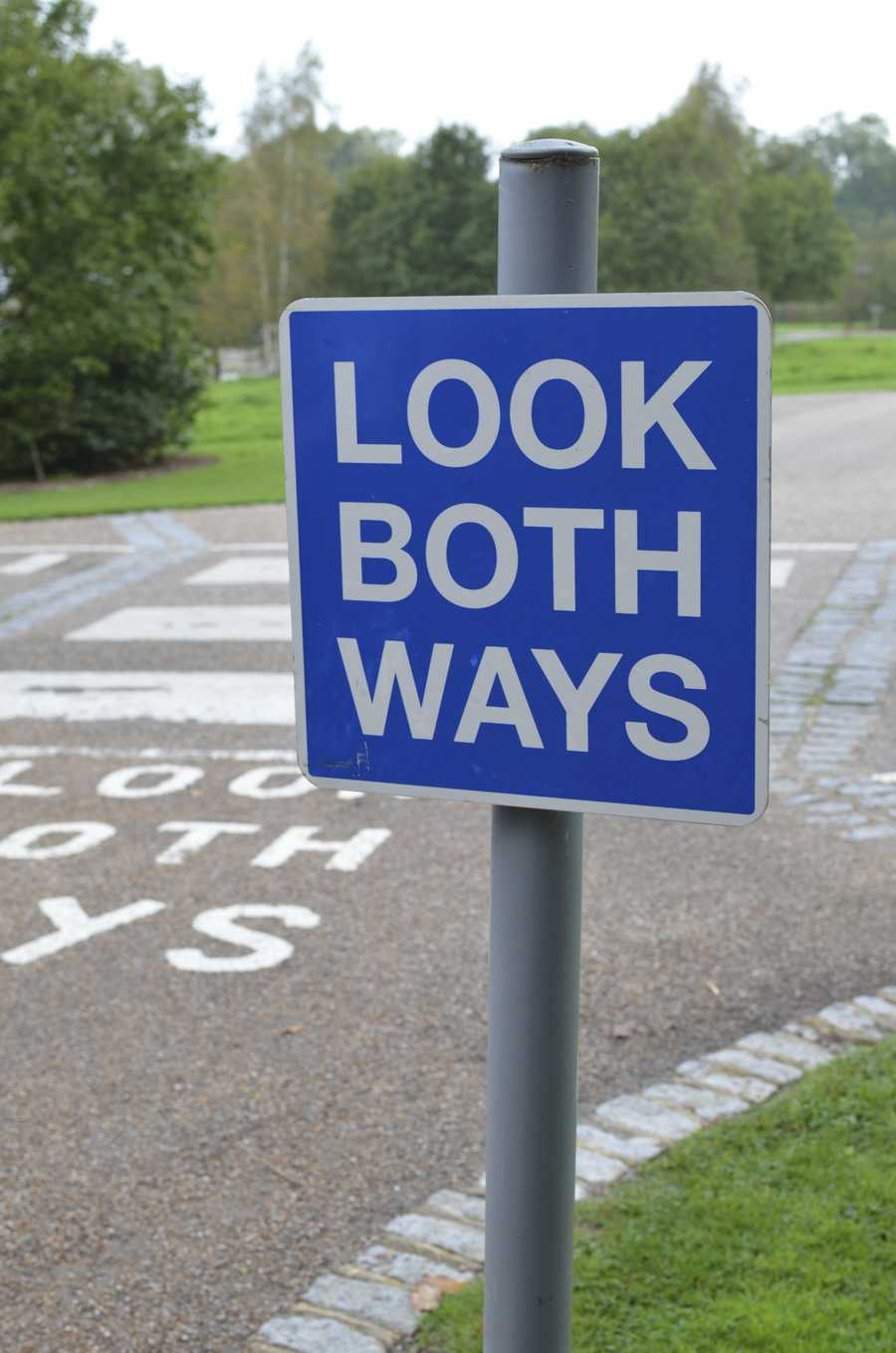 Use cross walks and traffic lights to cross streets and remember that at night, drivers may not see you.