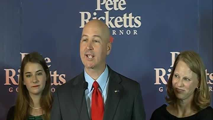 Republican Pete Ricketts, a multimillionaire former executive at TD Ameritrade, has been elected governor of Nebraska.