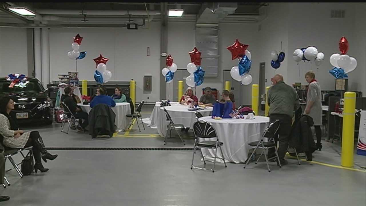 People witnessed a huge gift for three families Tuesday: recycled rides to boost three veterans and their families. Former Marine Michael Adams served two tours overseas, but had an even harder time watching his daughter suffer.