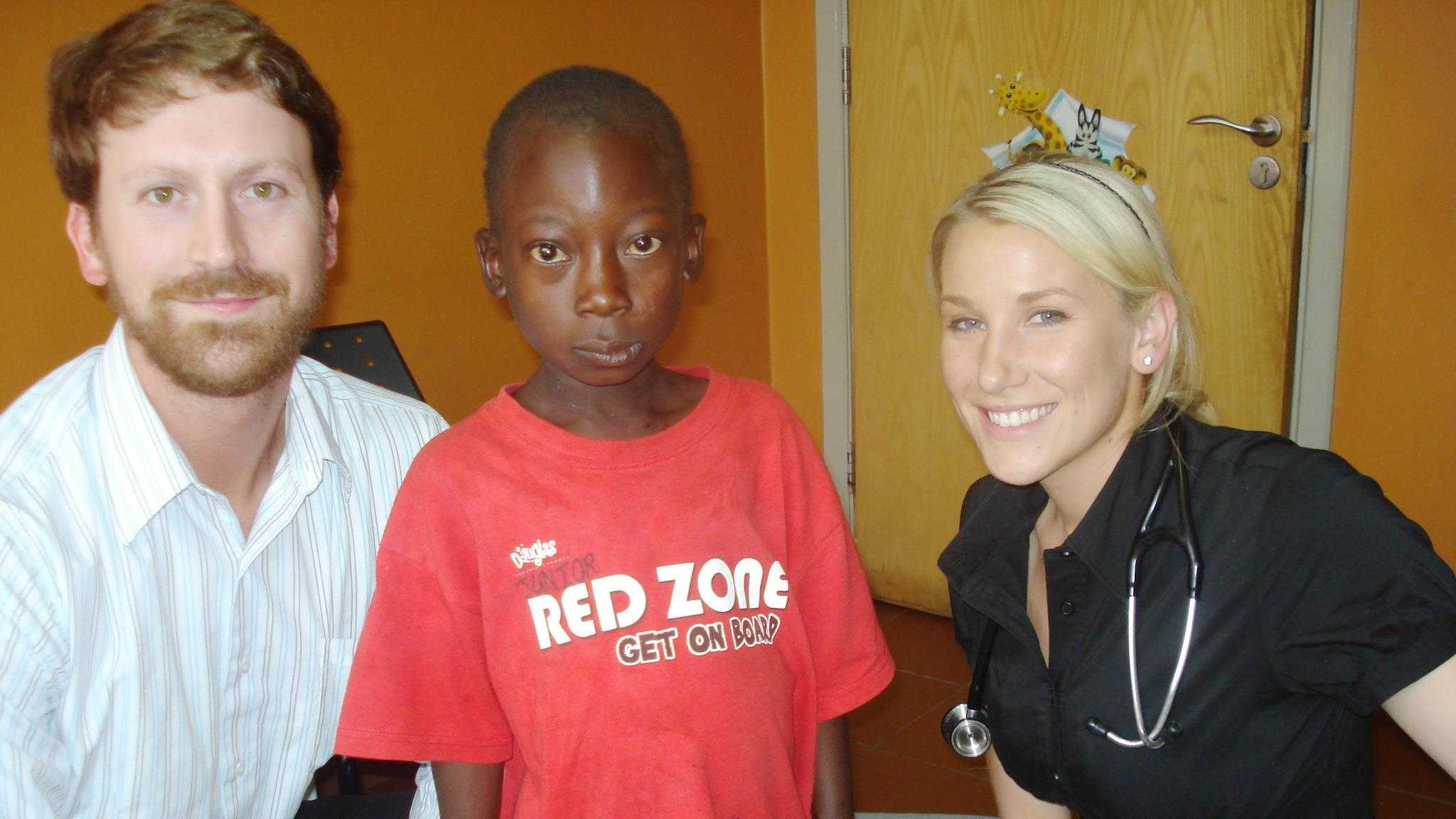 Doctors Mike and Natalie Stuntz working at a pediatric AIDS clinic in Africa in 2011