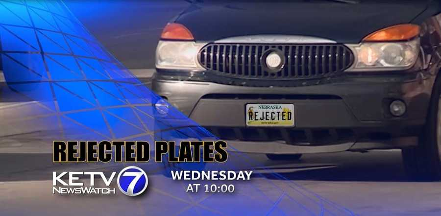 For a fee, Nebraska drivers can personalize their license plates. But every sequence of letters and numbers is reviewed by the Department of Motor Vehicles before it is made into a plate.