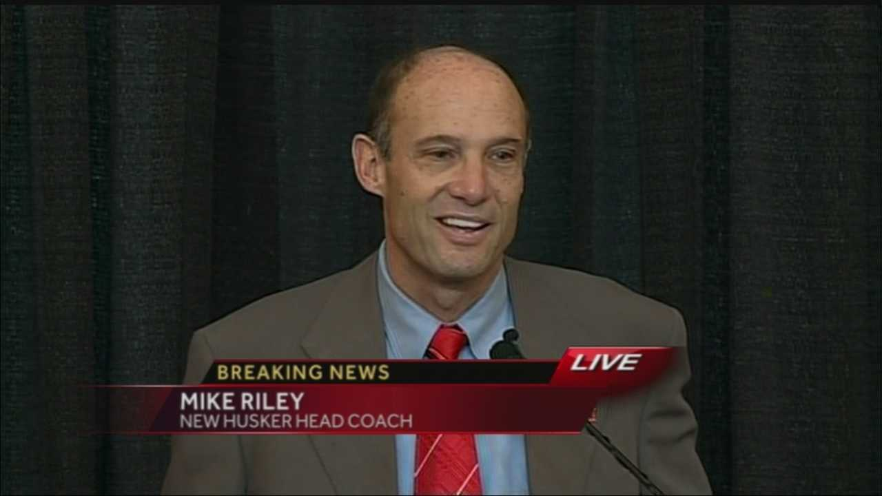 Mike Riley is introduced as Nebraska's 29th head football coach at a news conference Friday.