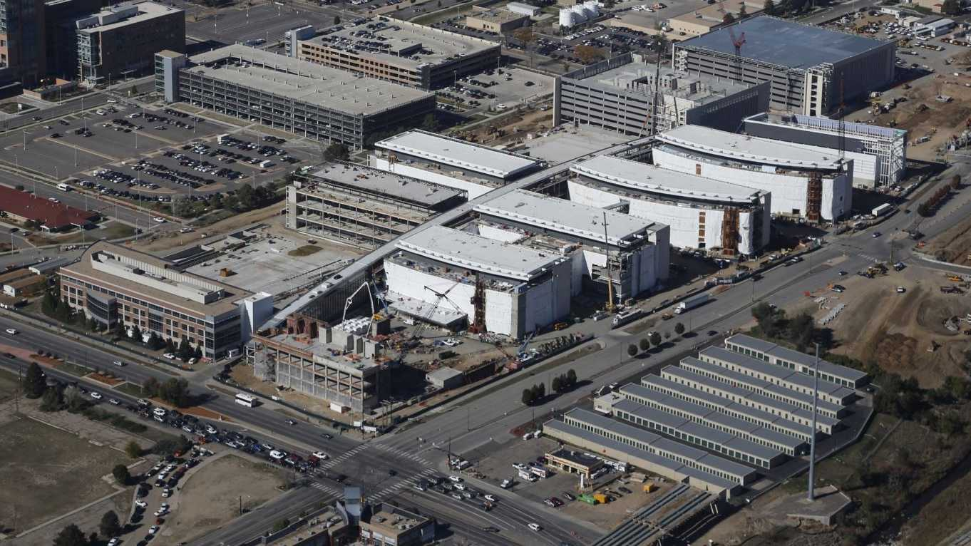 Aerial view of the site of the Denver VA Hospital on Nov. 1, 2014.