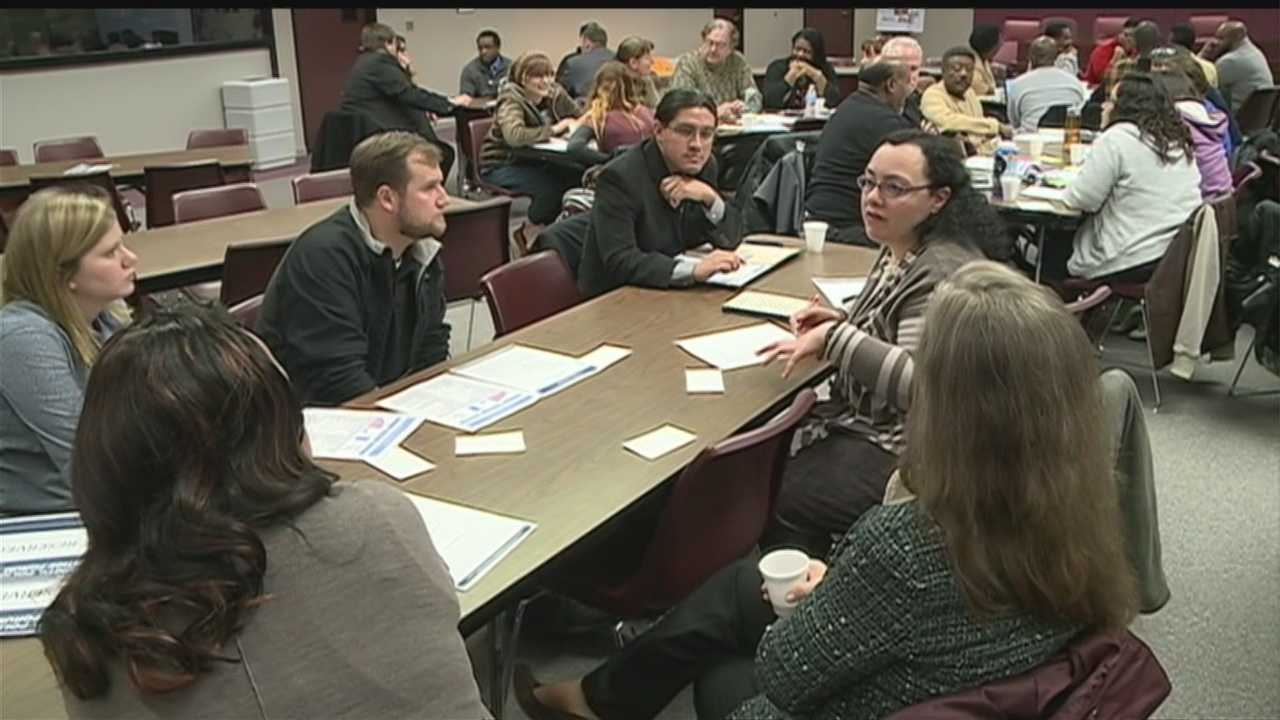 Identifying opportunities to improve community relationships with law enforcement draws a crowd of more than 100 people Thursday night.