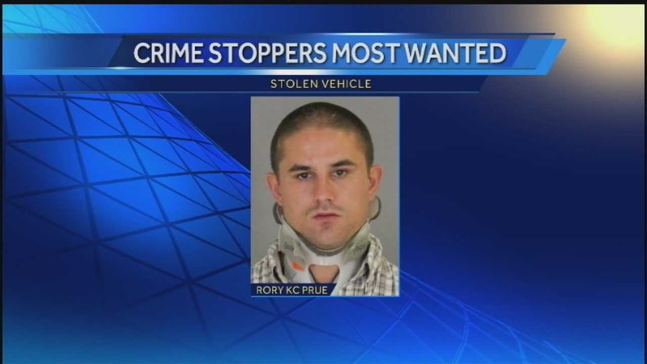 Police are asking for the public's help in tracking down a man on the run, after he stole a car.