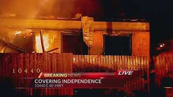 Images of a fire that destroyed the Independence, Mo. Gates Bar-B-Q restaurant early Tuesday morning.