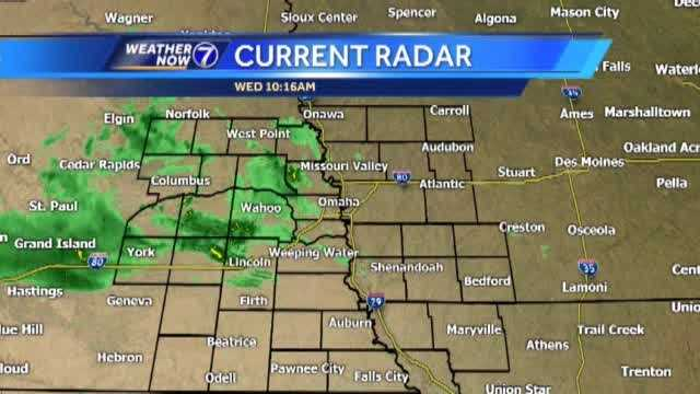 Stronger thunderstorms enter eastern Nebraska later today. Meteorologist Matt Serwe has the latest in this Weather Now update.