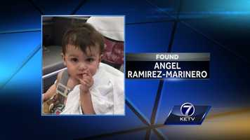 11-month-old Angel Ramirez-Marinero was found alive in a La Vista dumpster on May 6, just a couple of hours before his mother's body was found. The boy was put into state custody but then returned to extended family on May 8.