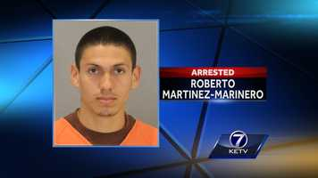 Roberto C. Martinez-Marinero, 25, charged with first-degree murder in the death of his mother and 5-year-old brother. Authorities said he turned himself in to Douglas County Corrections on May 7, saying he was involved in the death of his mother.