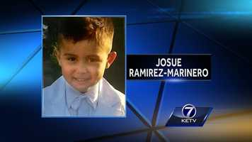 An Amber Alert was issued the morning of May 7, 2015, for Josue Ramirez-Marinero. Police said he, his mother and 11-month-old brother had first been reported missing the previous morning. Authorities found the body of a boy believed to be Josue along the Elkhorn River on May 11.