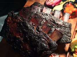 Colossal shorty long bone smoked short ribs.