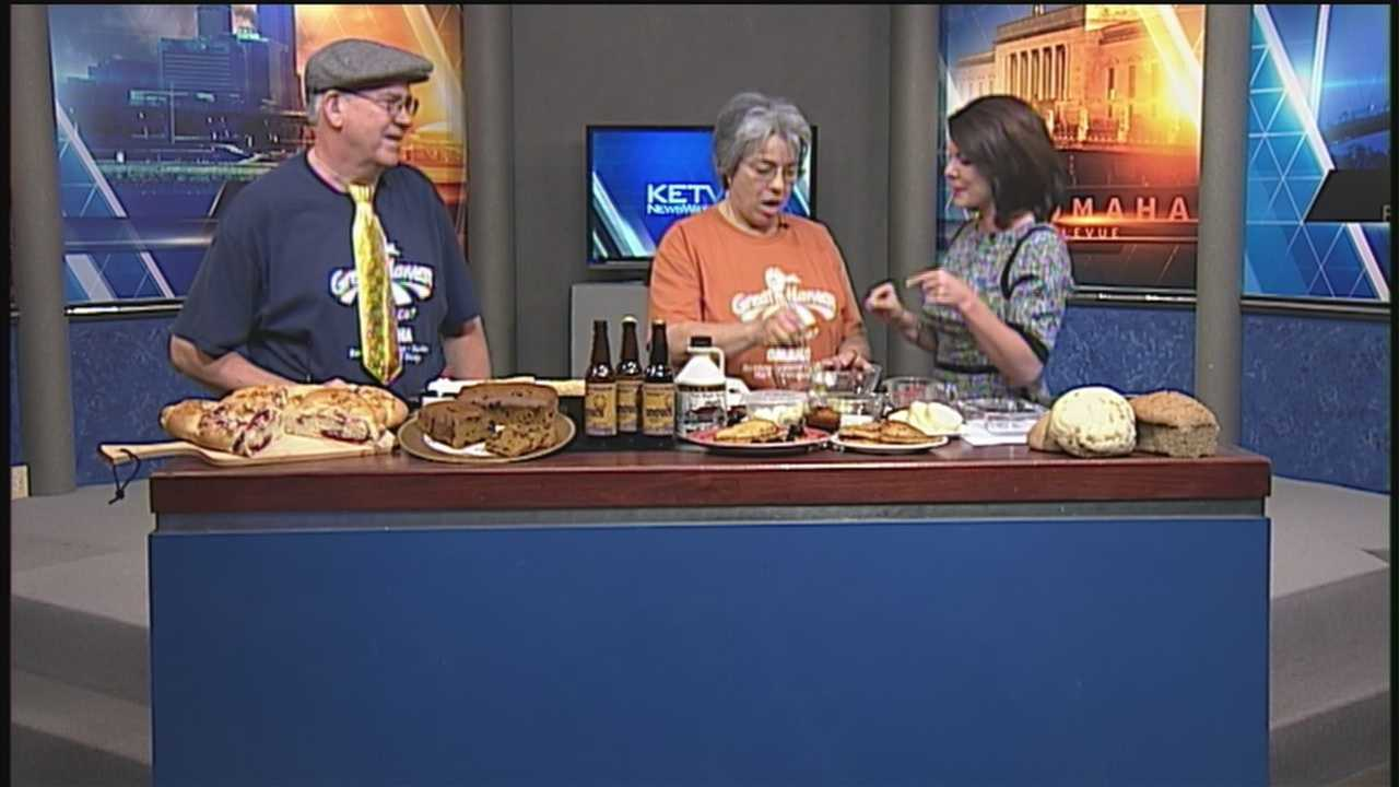 Great Harvest Bread Company stopped by KETV First News to demonstrate their beer battered french toast recipe.