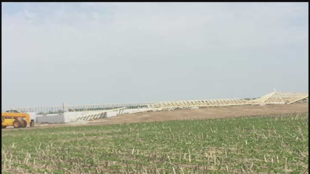 A person was left in critical condition after an incident at a hog confinement farm Wednesday afternoon.