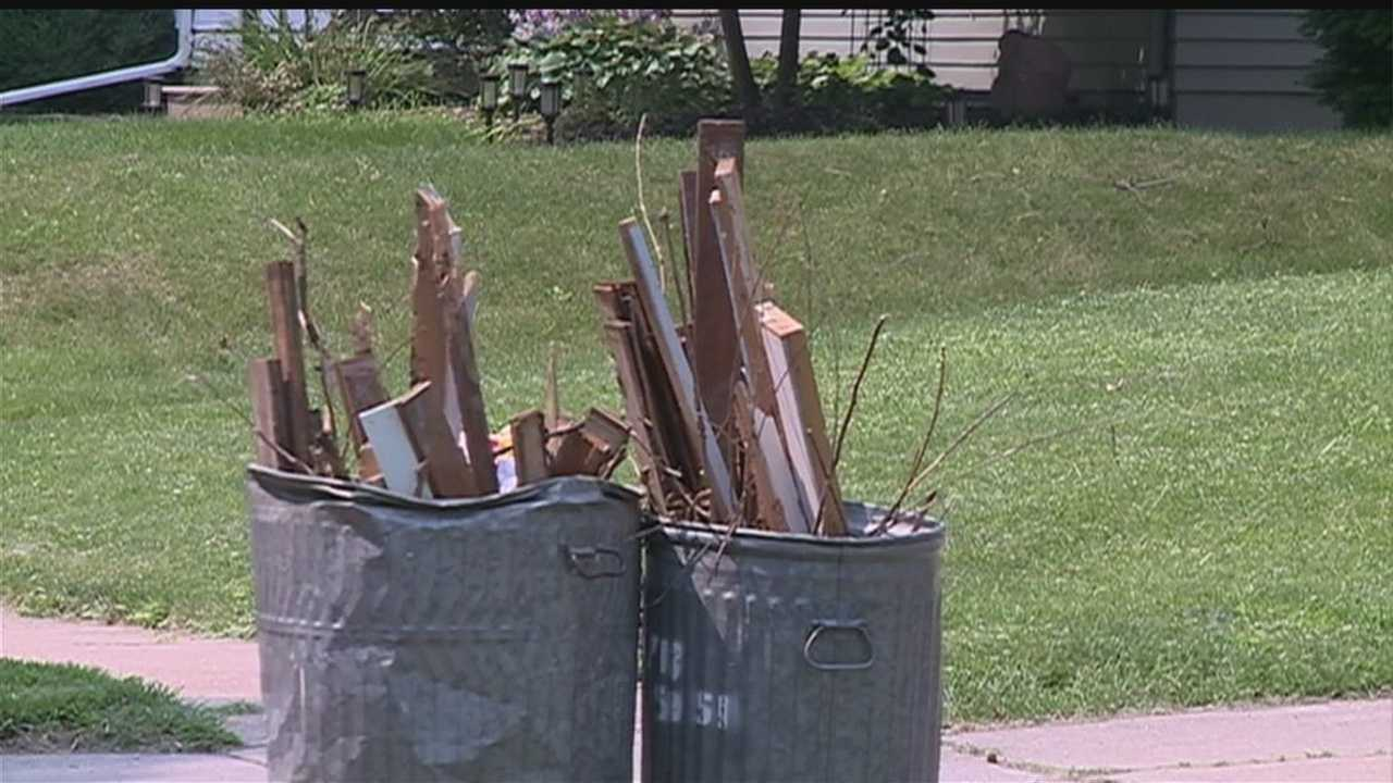 Deffenbaugh began temporary changes Monday, picking up yard waste and trash in the same truck in an effort to alleviate some of the backup.