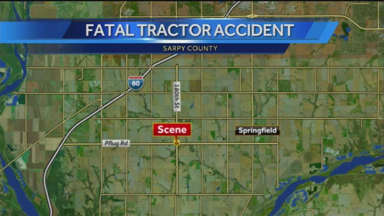 A man was found deceased Sunday night in Springfield after he was run over by a tractor.