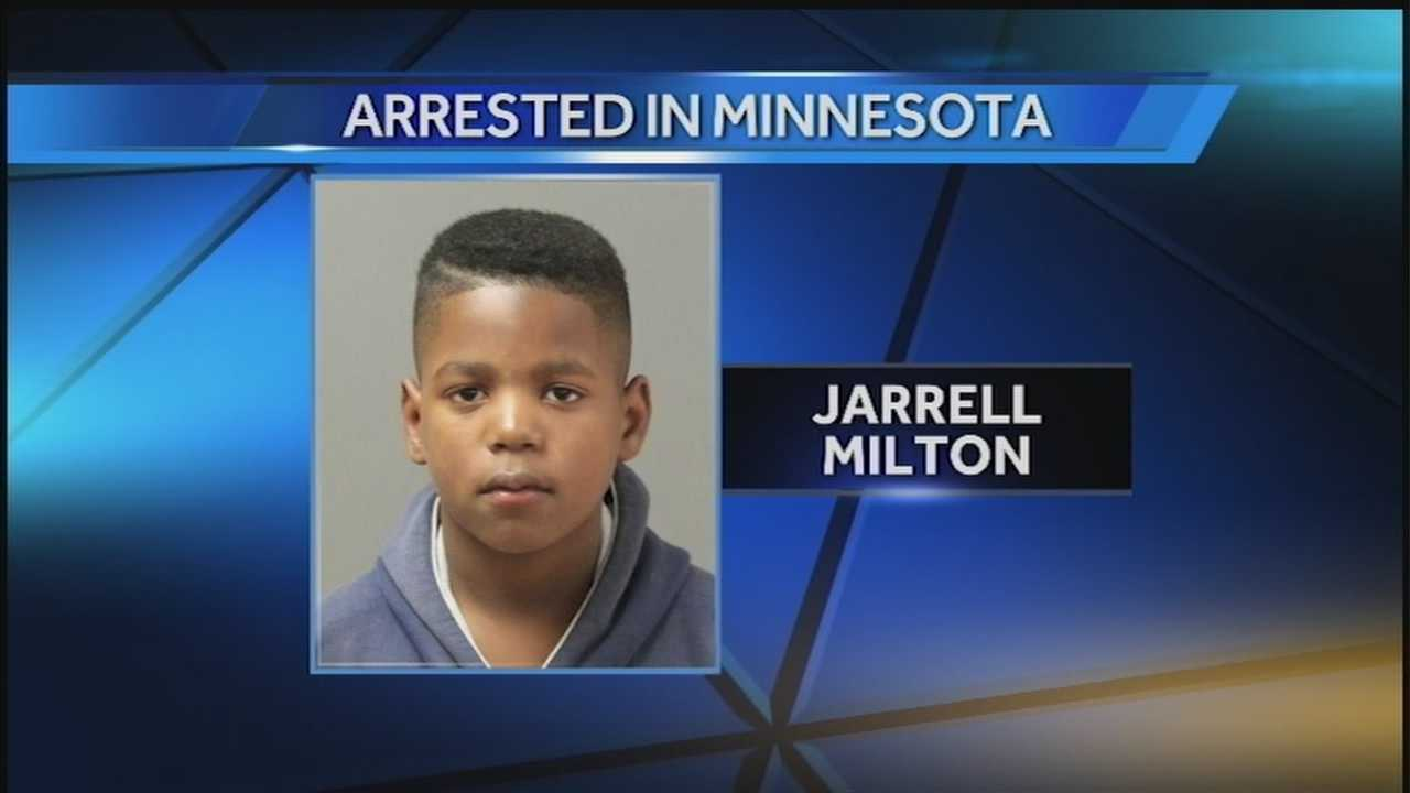 Jarrell Milton, the 12-year-old who police have been searching for, was located Wednesday night in Minnesota.