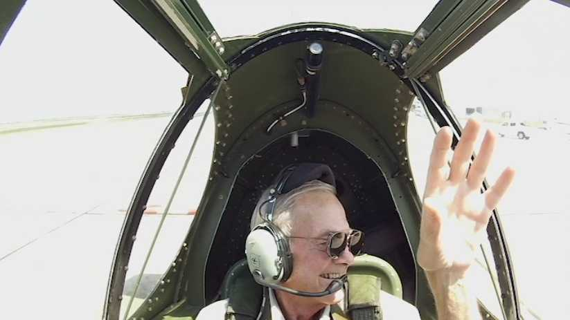 A Lincoln man battling cancer recently got the ride of his life in a World War II fighter plane.
