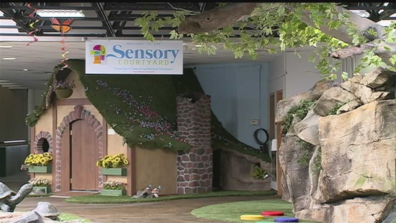 Sensory Garden is a receptive courtyard where children can play and learn.