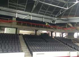 "A state-of-the-art ""ribbon board"" will surround the entire arena."