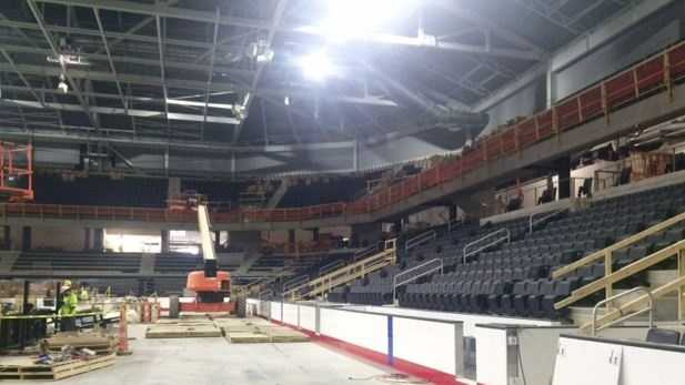 Two sheets of ice are planned to be included for games and practice sessions. Both the primary seating bowl and community area will have an 85x200 ft. NHL-sized sheets of ice.