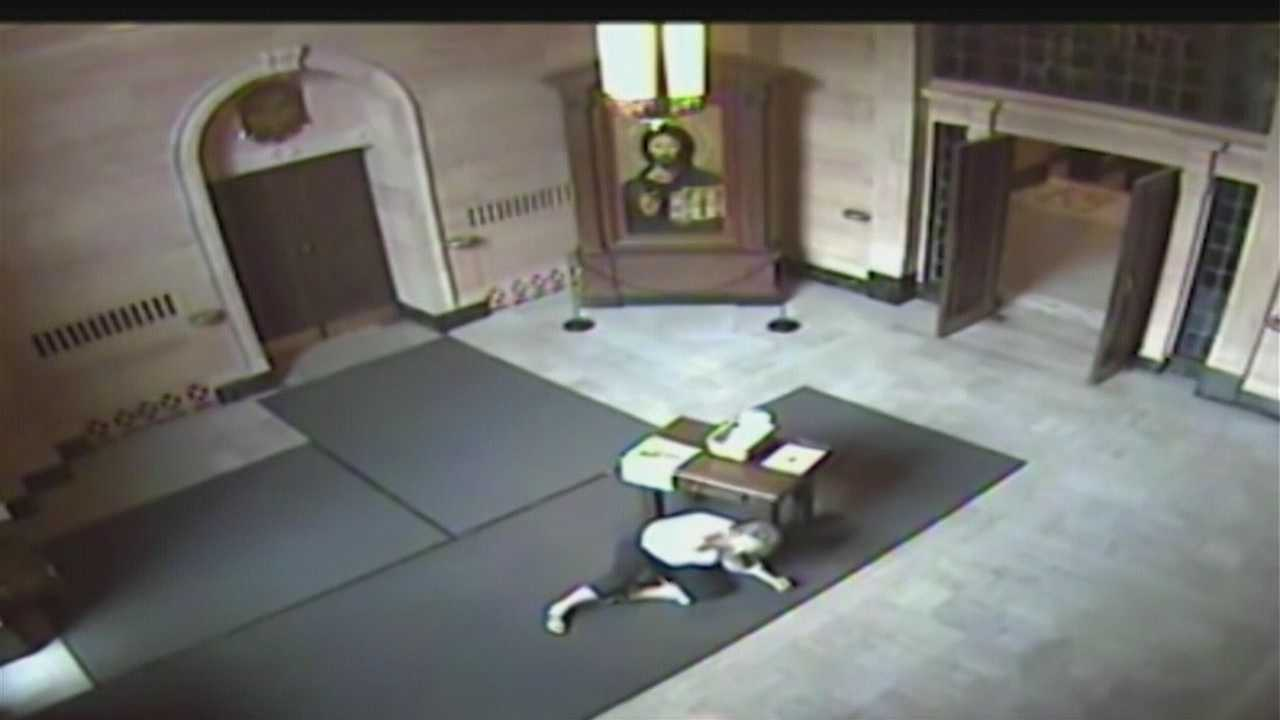 Investigators continue their search for the second person involved in an attack at St. Cecilia Cathedral on Sunday.