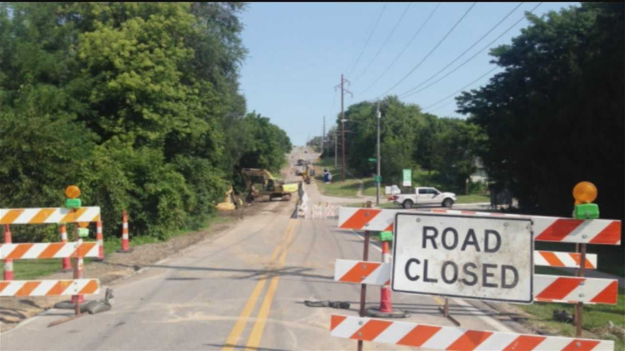 Heavy rain last week eroded a section of 108th Street in Omaha. The damage has the road closed to traffic at Charles Street, just south of Blondo.