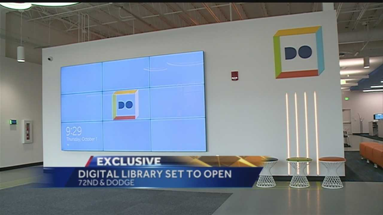 Omaha's busiest intersection is buzzing as the city's first digital library is about to open its doors at 72nd and Dodge.