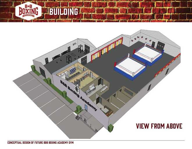 Champion boxer impacts youth with gym renovations expansion for Gym floor plan examples