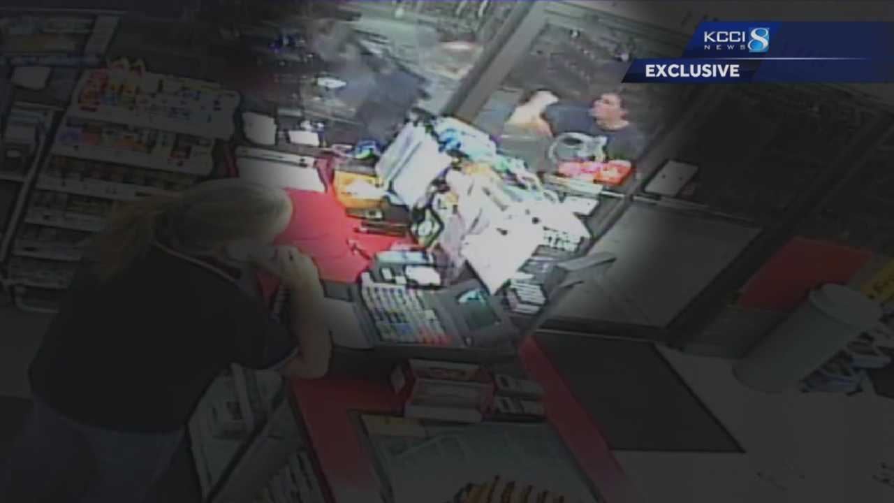Git-N-Go released the store surveillance camera video to KCCI on Tuesday.