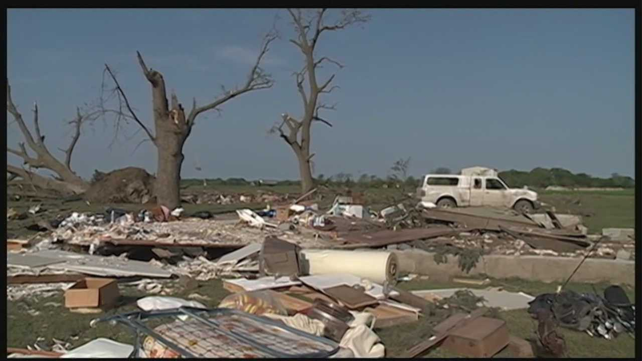 More than a year after twin tornadoes destroyed the community of Pilger, a woman critically injured in the storm thanks those who saved her life.