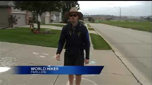 A 25-year-old Papillion native, Ryan Newbun, is embarking on his second trip hiking around the world.