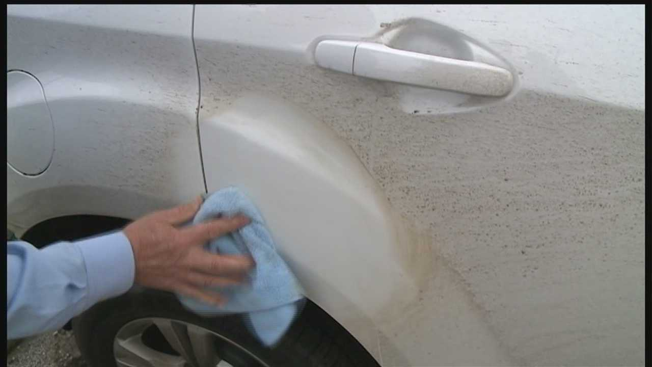 Drivers on Interstate 80 ended up with cars covered in brown slime Wednesday, and those drivers are hoping the company responsible will help clean up the cars.