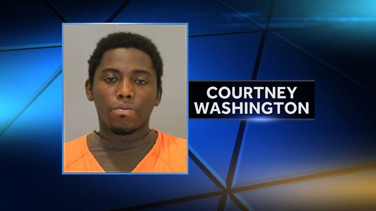 29-year-old Courtney Washington.  Felony negligent child abuse resulting in serious bodily injury.
