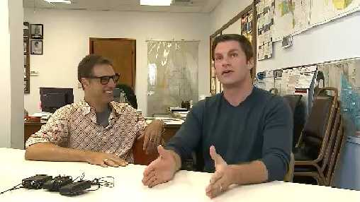 Mark Booker and Daniel Stephens, producers, plan to use the small town of Bennington as the setting for their movie.