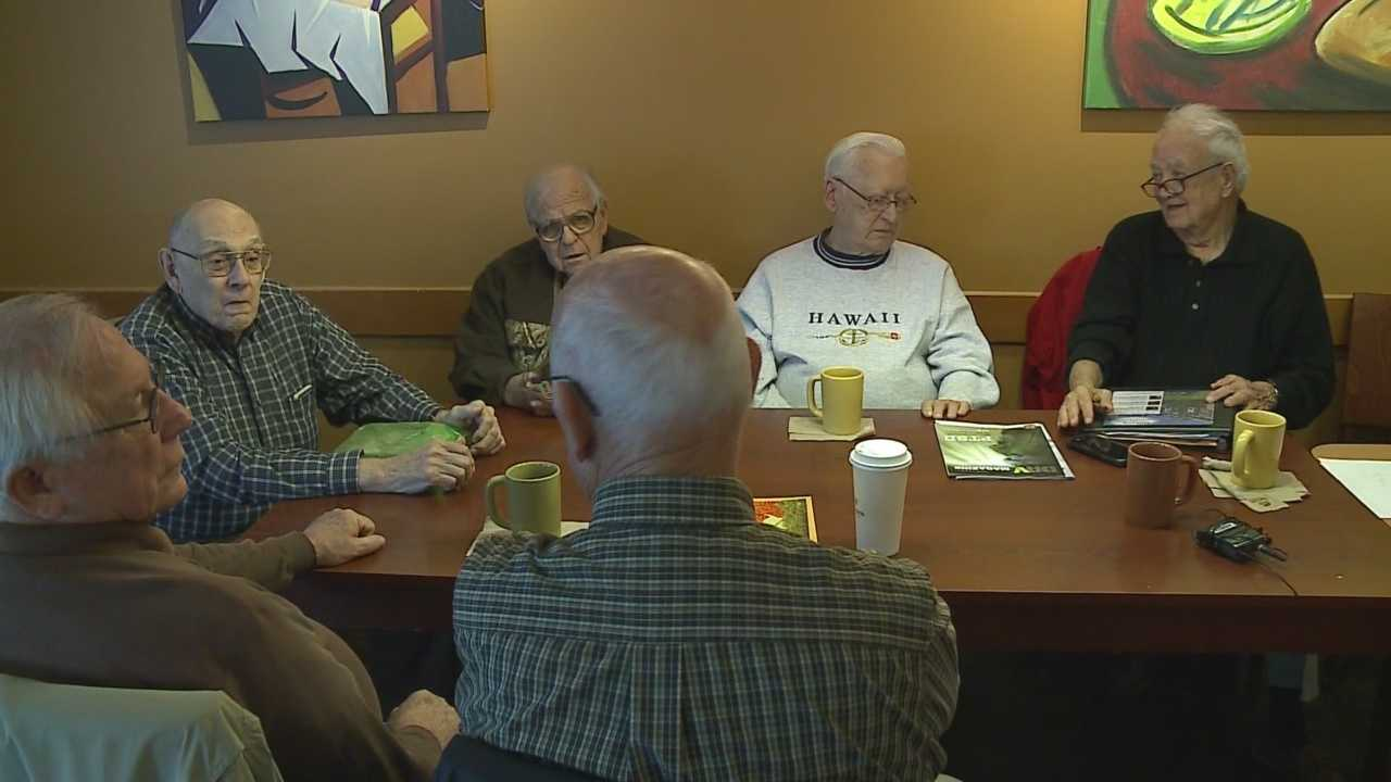 A group of men in Omaha meet at a coffee shop every Wednesday at 10 a.m.