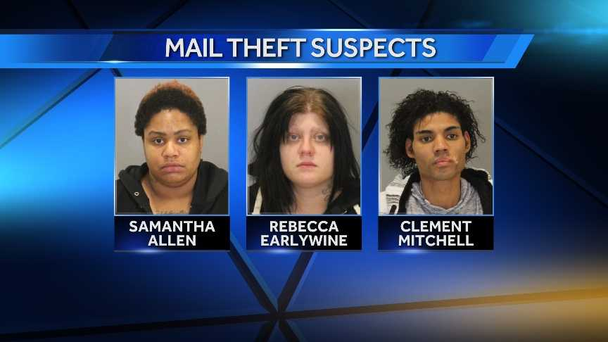 Three charged with stealing mail