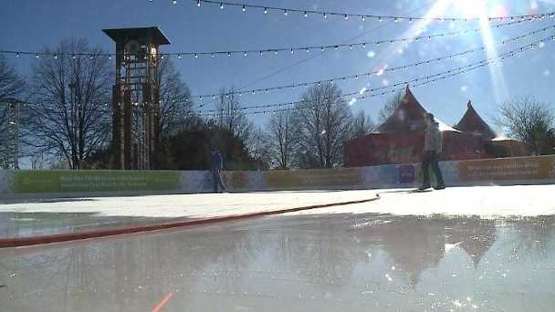 The Con-Agra Foods Ice Rink opens Friday night in downtown Omaha.