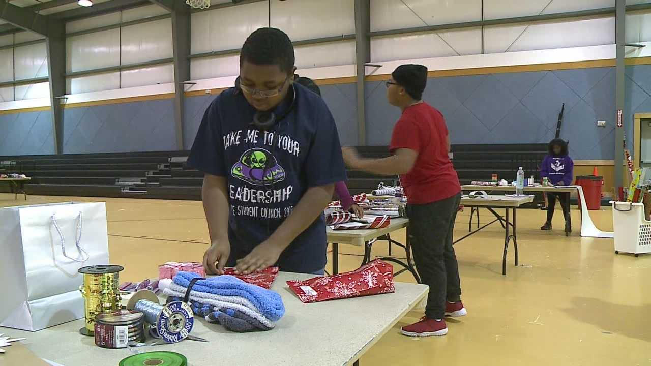 A North Omaha nonprofit is helping kids get ready to wrap that special gift for their loved ones.