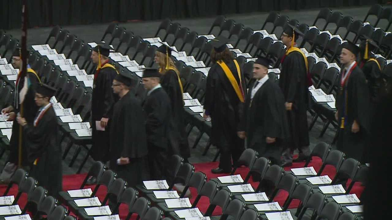 The University of Nebraska Omaha had their first graduation in the Baxter Arena Friday afternoon.