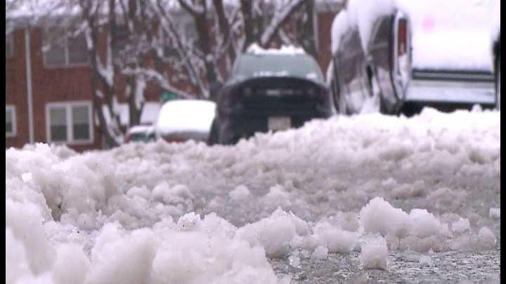 The streets across some metro neighborhoods are still snowy and slushy after a storm passed through Omaha on Christmas Eve.