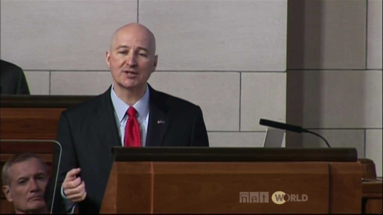 Gov. Pete Ricketts gives second State of State address. (KETV file image.)