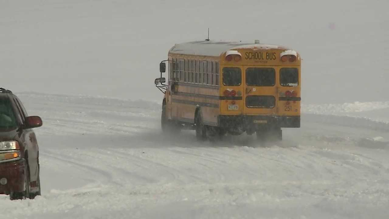 Some of the commuters that struggled most with Tuesday's weather were students.