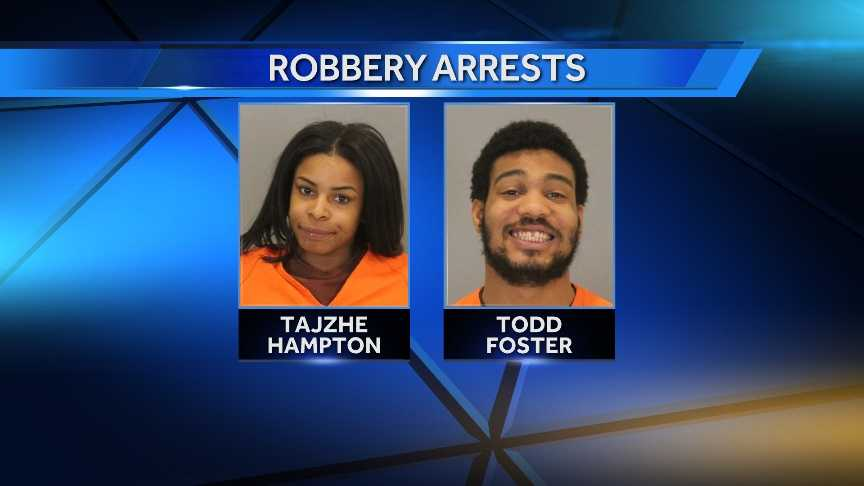Tajzhe Hampton, 20, and Todd Foster, 25, are accused of stealing a woman's purse at a Super 8 Motel, in addition to a similar attempt at a Hy-Vee store.