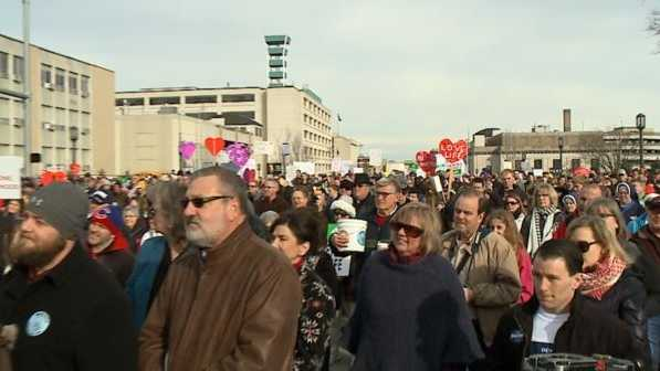 Thousands of people gathered at the state capitol in Lincoln on Saturday to participate in the Nebraska Walk For Life event.