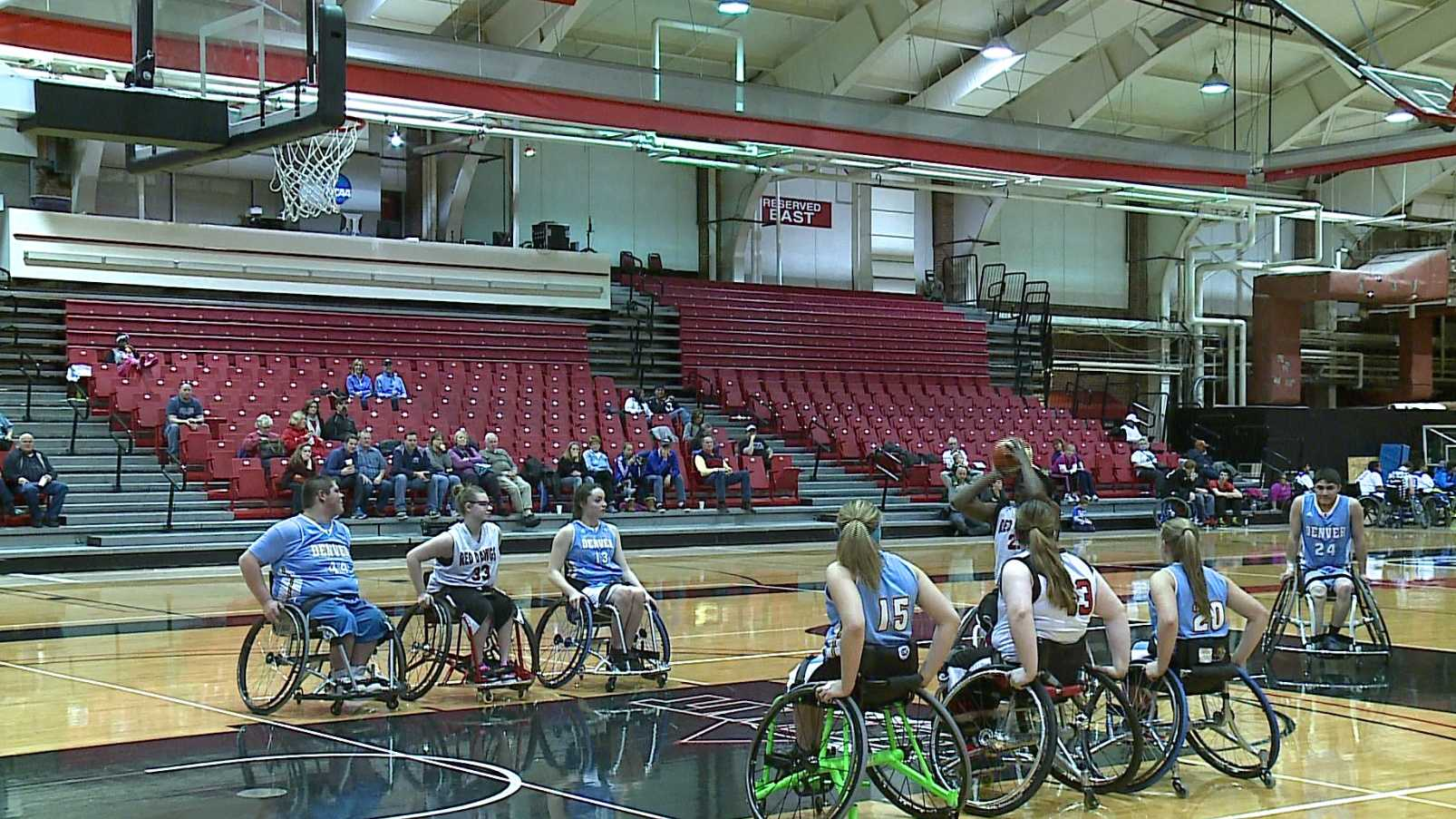 A nationally-recognized wheelchair basketball program is keeping the courts at the University of Nebraska-Omaha courts busy this weekend.