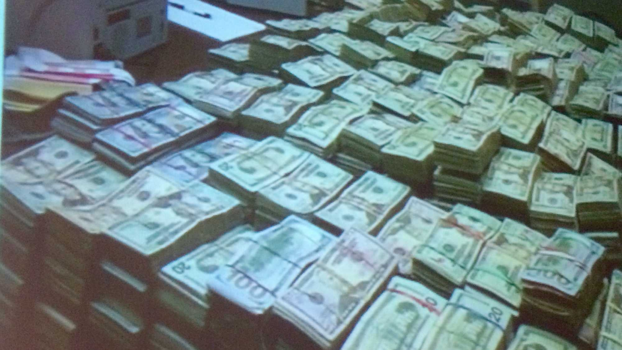Authorities in Lancaster County found $2.4 million in cash during a drug money bust Thursday.