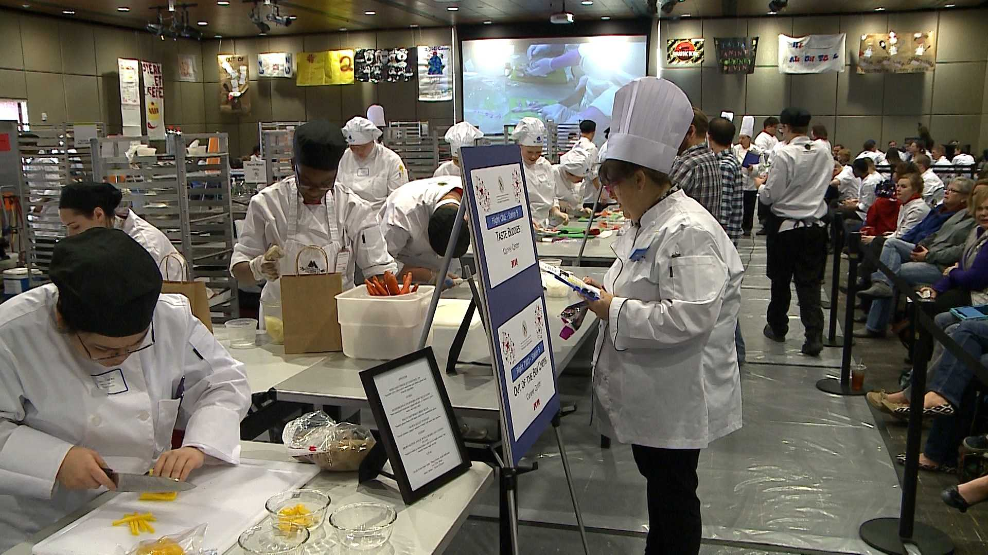 More than 90 high school students from Nebraska and Iowa showed off their cooking skills in the 11th annual High School Culinary Invitational on Friday.